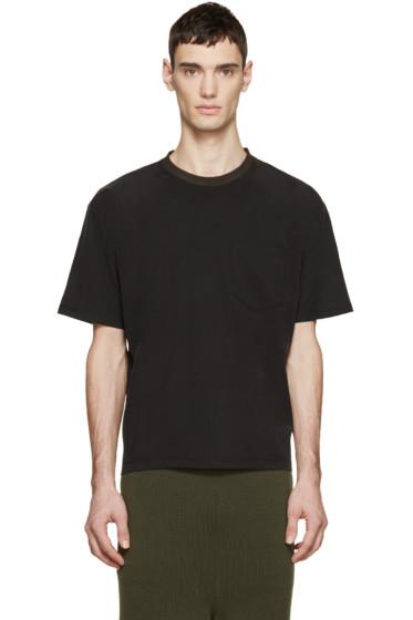 Wooyoungmi - Black Contrast Collar T-Shirt