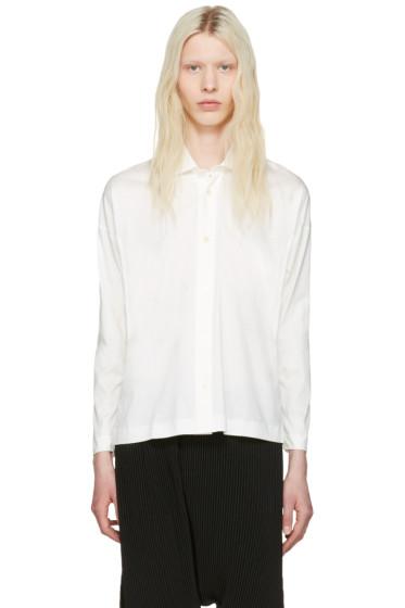 Homme Plissé Issey Miyake - White Cotton Shirt