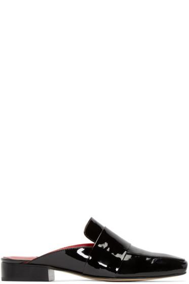 Dorateymur - Black Patent Leather Filiskiye Mules