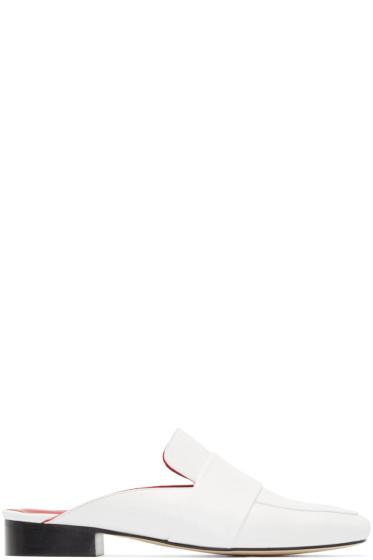 Dorateymur - White Patent Leather Filiskiye Mules