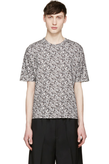 Stephan Schneider - Grey Crescent Flag T-Shirt