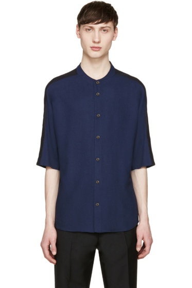Stephan Schneider - Navy Button T-Shirt