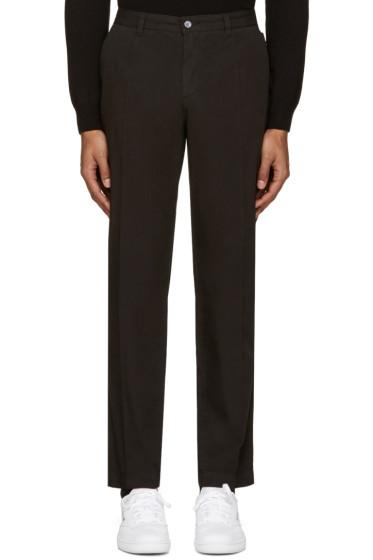 Dolce & Gabbana - Black Cotton Trousers