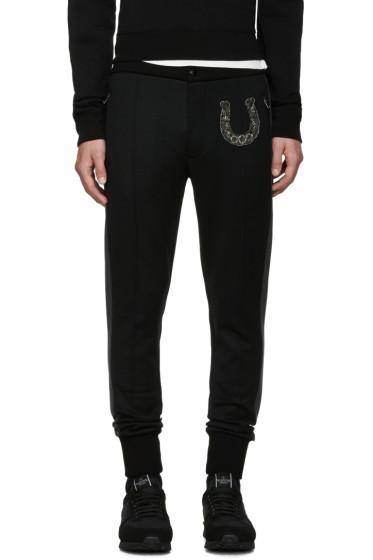 Dolce & Gabbana - Black Skinny Horseshoe Trousers