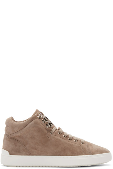 Rag & Bone - Grey Suede Kent High-Top Sneakers