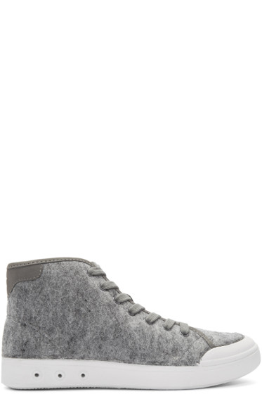 Rag & Bone - Grey Wool Standard Issue High-Top Sneakers