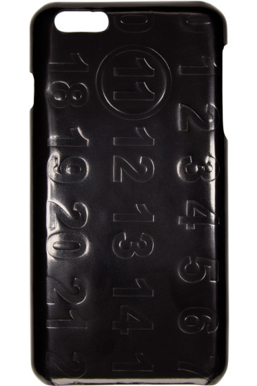 Maison Margiela - Black Leather Logo iPhone 6 Plus Case