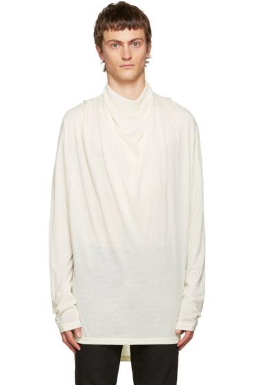 Balmain - Ivory Cowl Neck Sweater