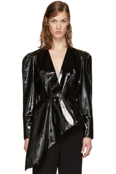 Lanvin - Black Patent Leather Jacket