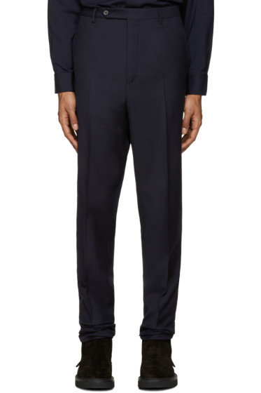 Lanvin - Navy Wool Drop Trousers
