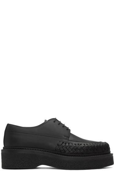 Lanvin - Black Woven Leather Derbys