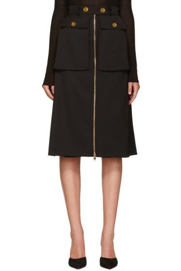 Alexander McQueen - Black Pocket Skirt