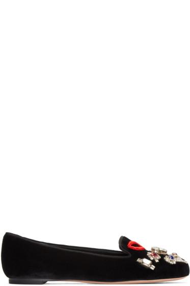 Alexander McQueen - Black Velvet Obsession Loafers