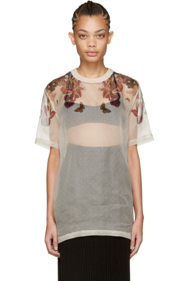 Givenchy - Pink Floral Organza Blouse