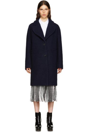 Carven - Navy Wool Coat
