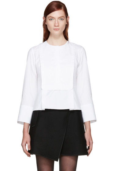 Carven - White Poplin Blouse