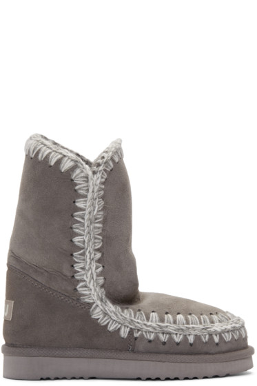 Mou - Grey Eskimo 24 Boots