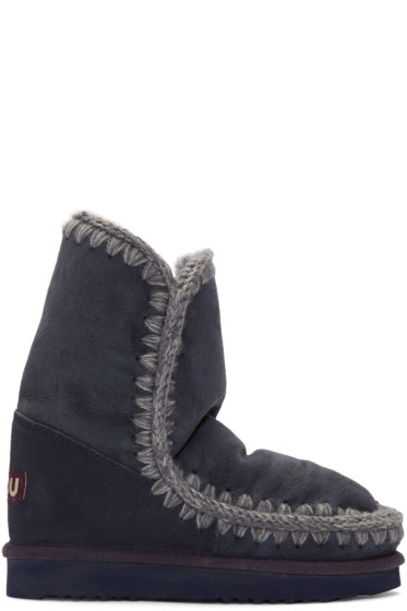 Mou - Navy Eskimo 24 Boots