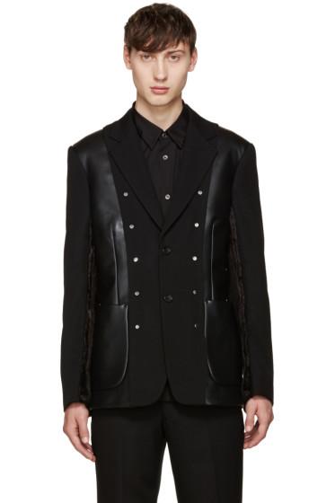 Comme des Garçons Homme Plus - Black Multi-Fabric Blazer