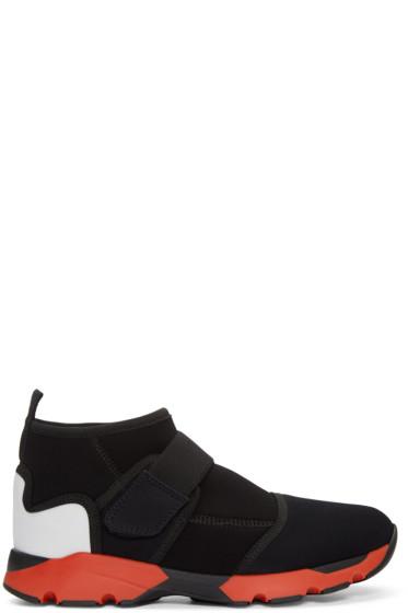 Marni - Black Velcro High-Top Sneakers