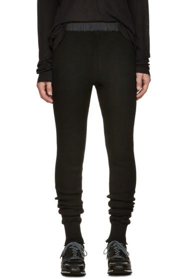 Sacai - Black Wool Lounge Pants