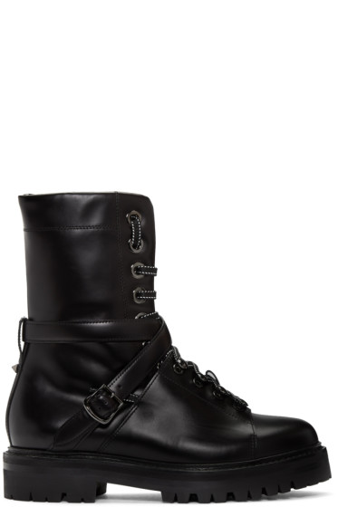 Valentino - Black Combat Boots