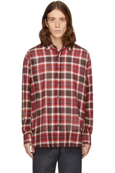 Facetasm - Brown Plaid Shirt