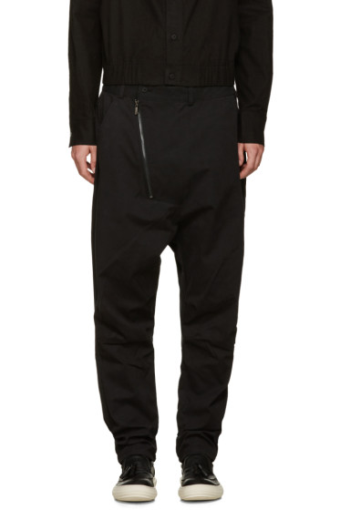 D.Gnak by Kang.D - Black Zip Sarouel Trousers