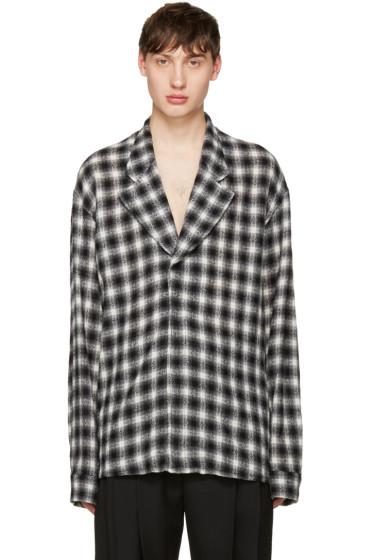 Haider Ackermann - Black Check Blazer Shirt