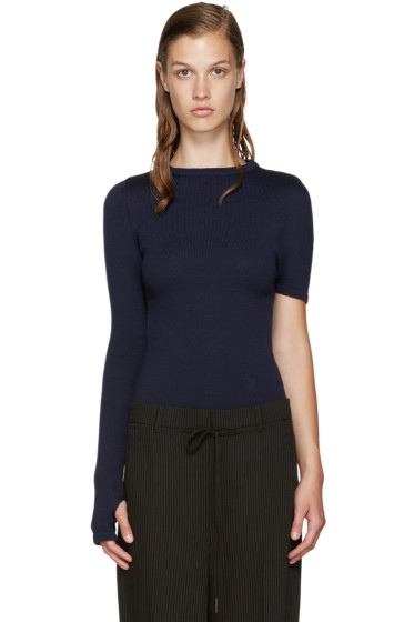 Jacquemus - Navy Single Sleeve Sweater