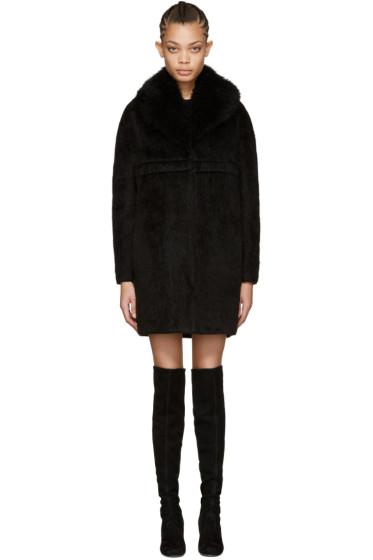 Moncler Gamme Rouge - ブラック アルパカ サボヤン コート