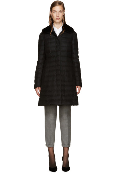 Moncler Gamme Rouge - Black Down Anis Coat