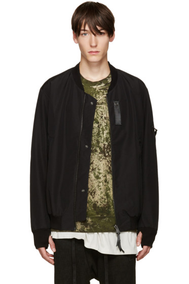 11 by Boris Bidjan Saberi - Black Bomber Jacket