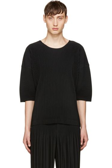 Homme Plissé Issey Miyake - Black Pleated T-Shirt