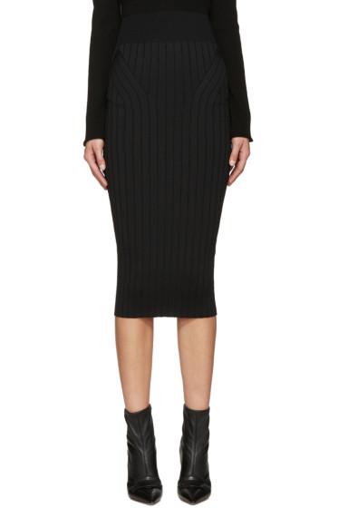 Victoria Beckham - Black Ribbed Skirt