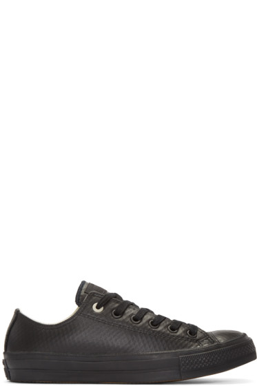 Converse - Black Leather Chuck Taylor All Star II Ox Sneakers