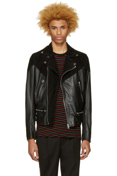 Diesel - Black Leather L-Bort Jacket