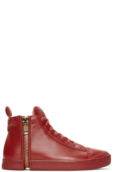 Diesel - Red S-Nentish High-Top Sneakers
