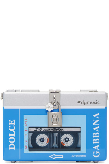 Dolce & Gabbana - Blue & Silver Walkman Box Clutch