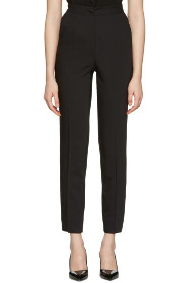Dolce & Gabbana - Black Crepe Wool Trousers