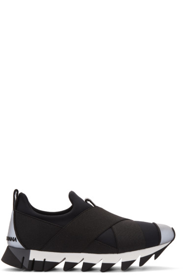 Dolce & Gabbana - Black Criss-Cross Sneakers