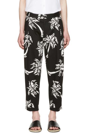 Dolce & Gabbana - Black Cropped Palm Trousers