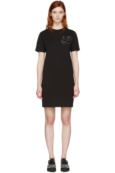 McQ Alexander McQueen - Black Swallow T-Shirt Dress