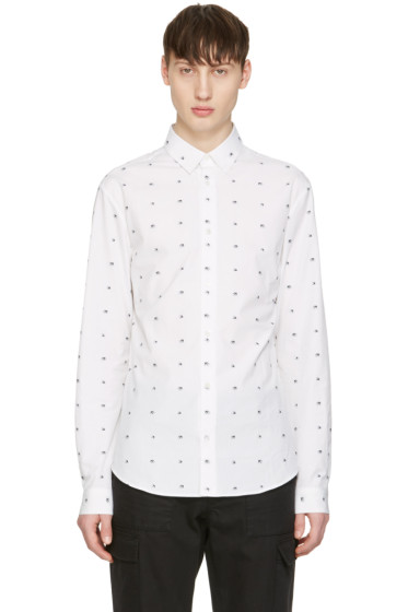 McQ Alexander McQueen - White Googe Swallows Shirt