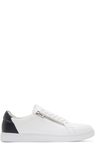 Tiger of Sweden - White & Navy Arne Sneakers
