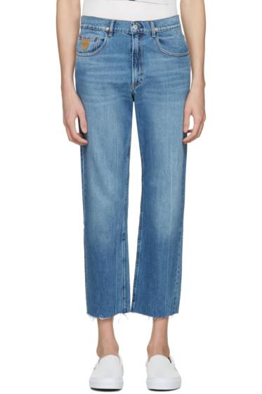 April77 - Blue Flip Open Skate Jeans