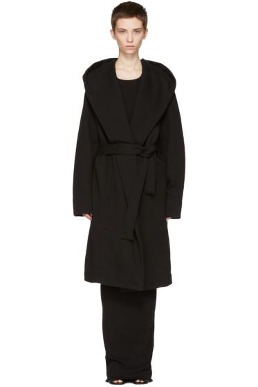 Rick Owens Drkshdw - Black Belted Robe Coat