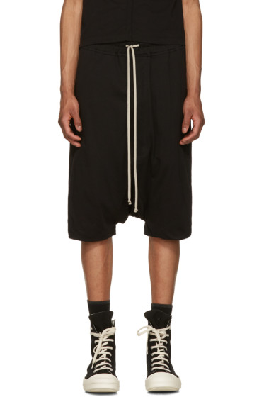 Rick Owens Drkshdw - Black Jersey Pods Shorts