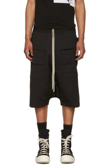 Rick Owens Drkshdw - Black Strap Cargo Pods Shorts