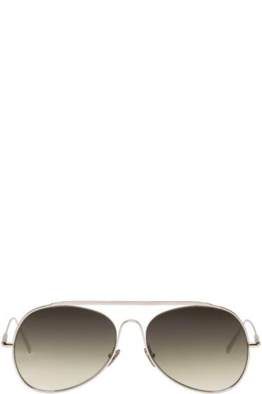 Acne Studios - Silver Large Spitfire Aviator Sunglasses